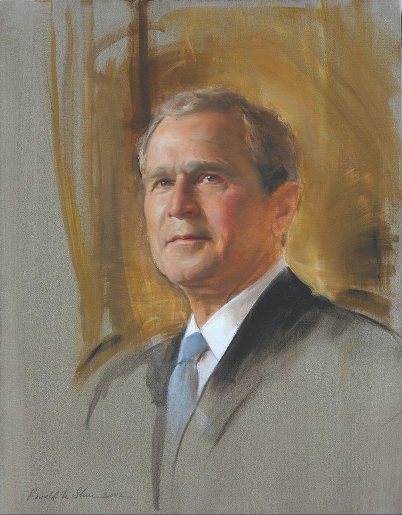 Ronald sherr portrait artist portraits by commission for George bush painting